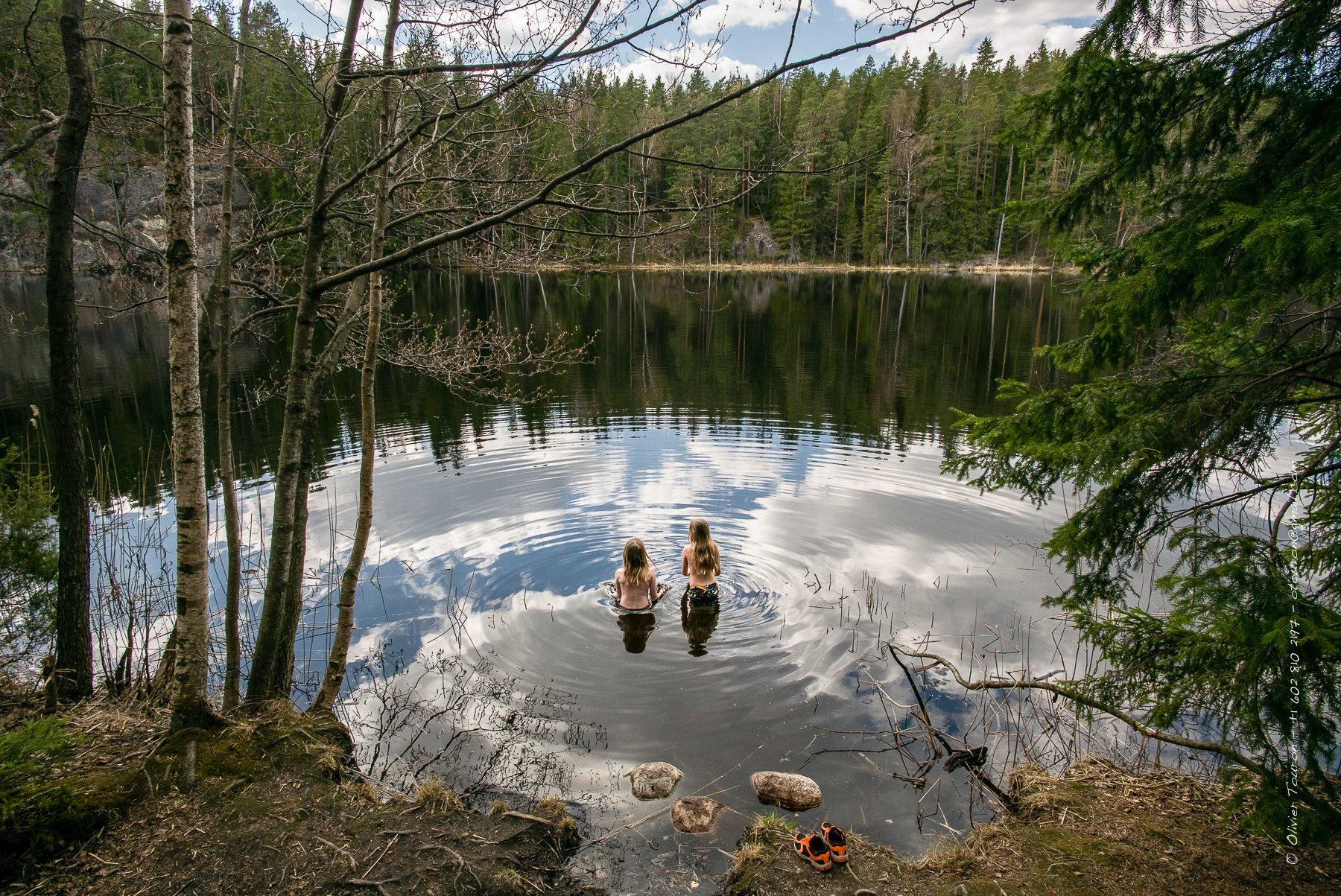 27 avril 2014. Parc national Nuuksio à une demi-heure d'Helsinki. // © Olivier Touron / Divergence