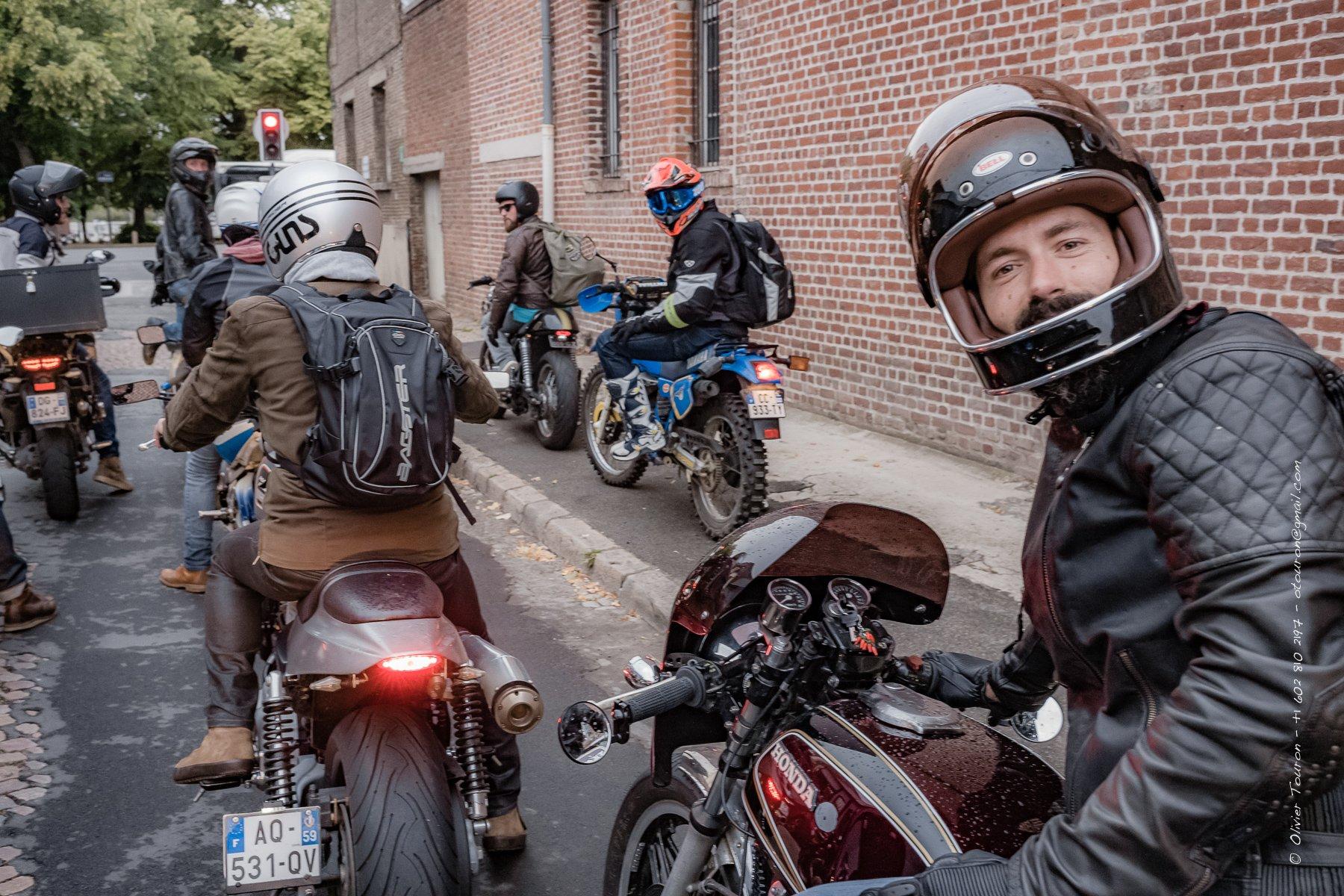 28 juillet 2017. Lille. 55 ème Rassemblement mensuel motard à l'initiative d'Un Pneu Dans La Tombe. Avec en deuxième partie un BBQ chez Alex à Pérenchies. // © Olivier Touron / Divergence