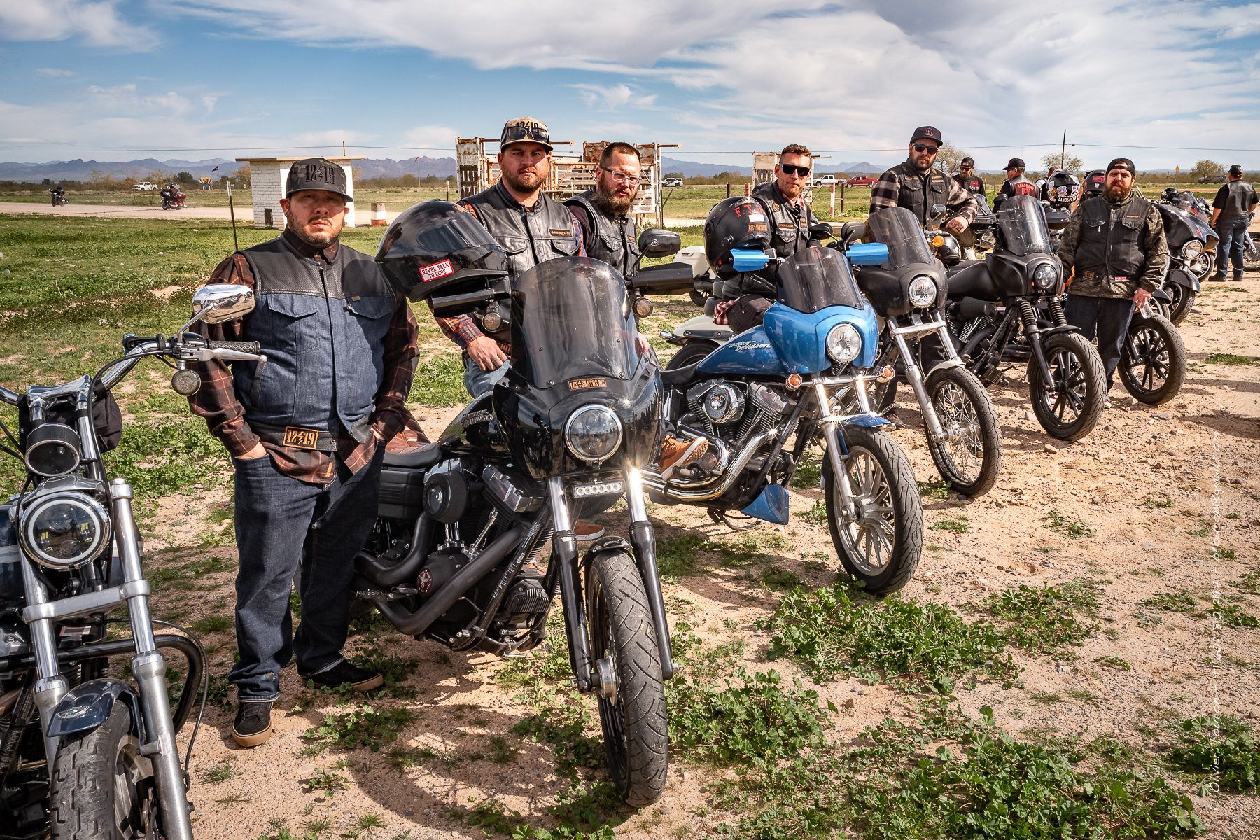 09 février 2020. Arizona. 37th Prison Run organised by the Hell's Angels MC. from Phoenix to Florence. This year the parade has not been allowed by the law enforcement. // © Olivier Touron / Divergence
